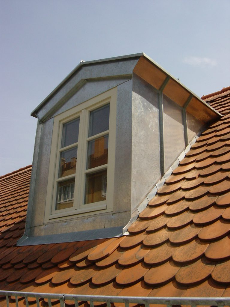Titanzink Verkleidung Dachfenster
